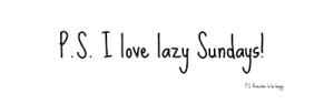 Lazy Sunday 3
