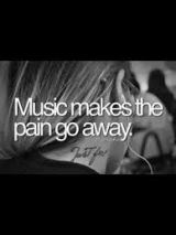 Music makes the pain