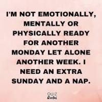 Monday to away