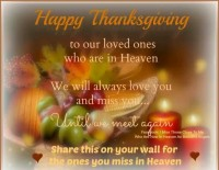 happy thanksgiving in heaven