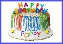 Happy Birthday Poppy