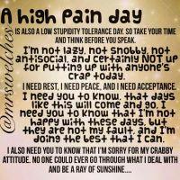 high pain