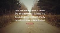 Love no boundaries