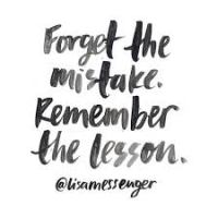 forget the mistake