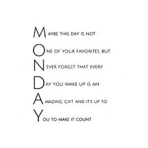 Monday 1