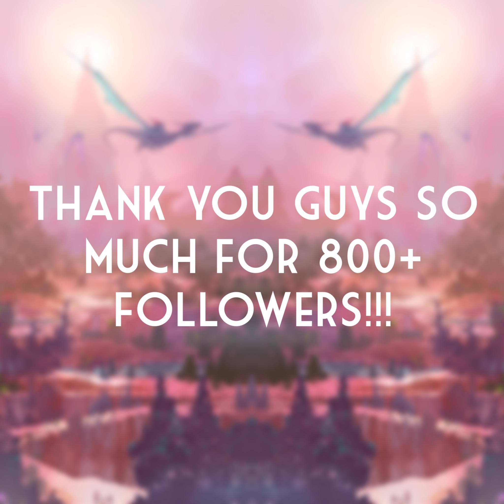 800+ Followers