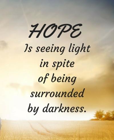 hope seeing bright