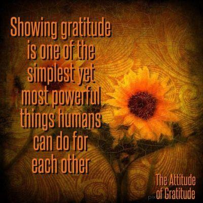 showing gratitude