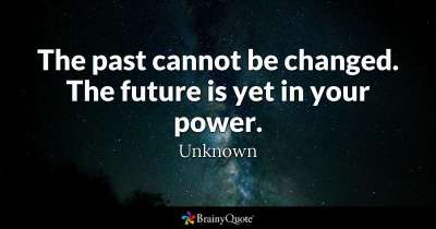 past can't change