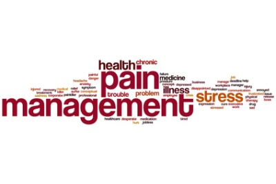Pain management word cloud concept