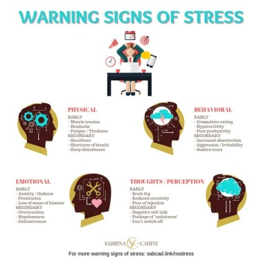 warning signs of stress