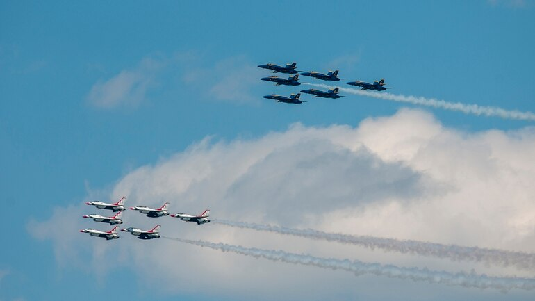 blue angels and thunderbirds